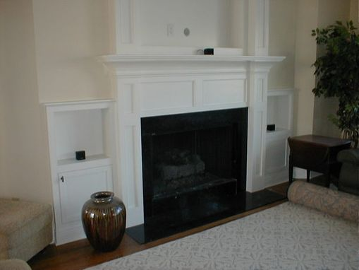 Custom Made Built Fireplace Mantle For Flat Screen