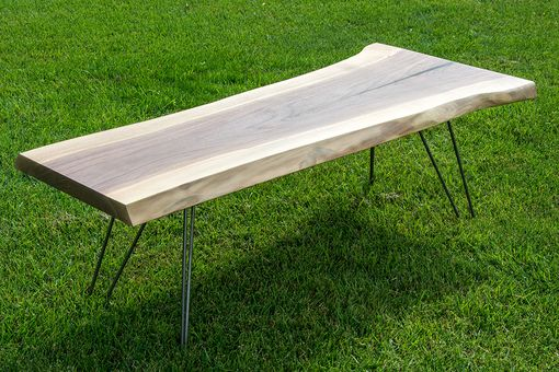 Custom Made Slender Slab – Walnut Live Edge Coffee Table