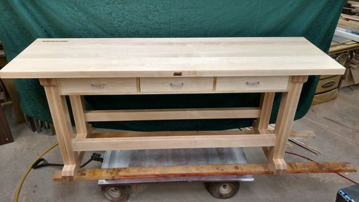 Custom Made Solid Hard Maple Bench For The Man Cave Or Shop