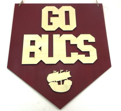 Custom Made Go Bucs! Wooden Wall Sign