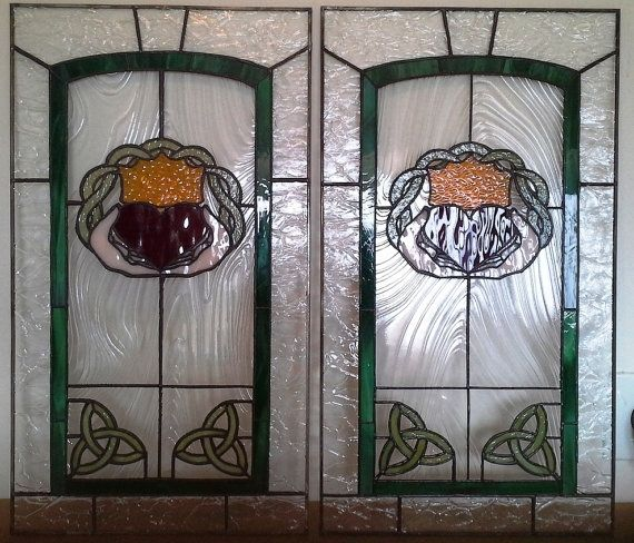 Stained Glass For Kitchen Cabinets: Custom Stained Glass Cabinet Inserts