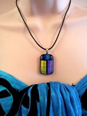 Custom Made Dichroic Fused Glass Pendant