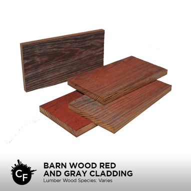 Custom Made Barn Wood Red And Gray Cladding