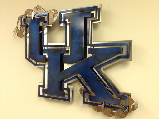 Buy A Hand Made Vintage Kentucky Metal Sign Made To Order