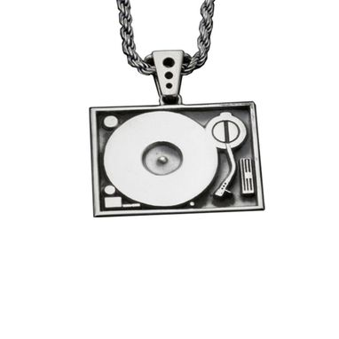 Custom Made Turntable Pendant Precious Metals