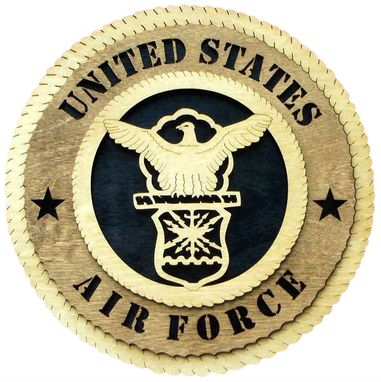 Custom Made Air Force Wall Tribute, Air Force Hand Made Gift
