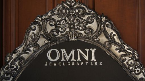 Custom Made Omni Jewelry Filigree Fancy Stand Up Counter Top Chalkboard
