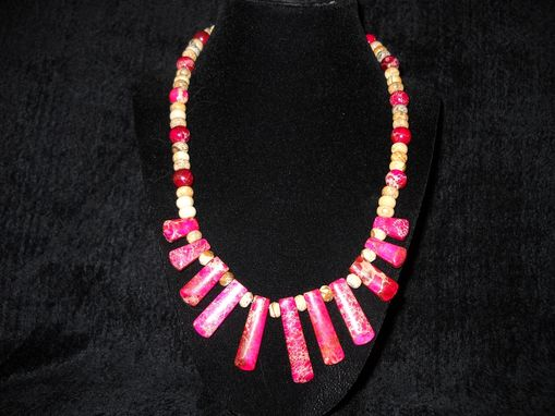 Custom Made Pink Jasper Necklace
