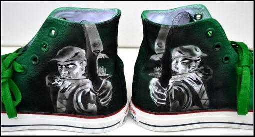 Custom Made Green Arrow Sneakers, Mens Converse, Custom Converse, Unisex Sizes