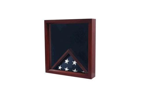 Custom Made Military Flag And Medal Display Case - Shadow Box