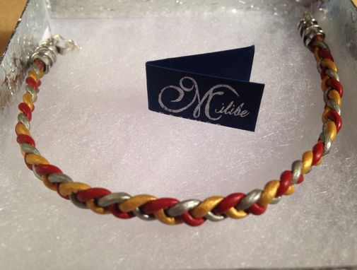 Custom Made Leather Braided Bracelet