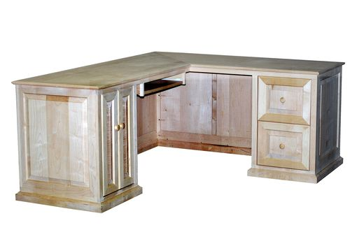 Custom Made Maple L-Shaped Desk