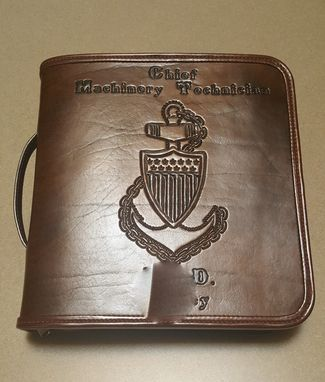 Custom Made Custom Leather Coast Guard Chief Charge Book
