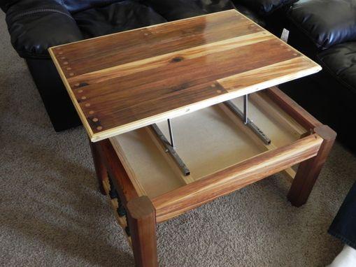 buy a custom western cedar coffee table made to order. Black Bedroom Furniture Sets. Home Design Ideas