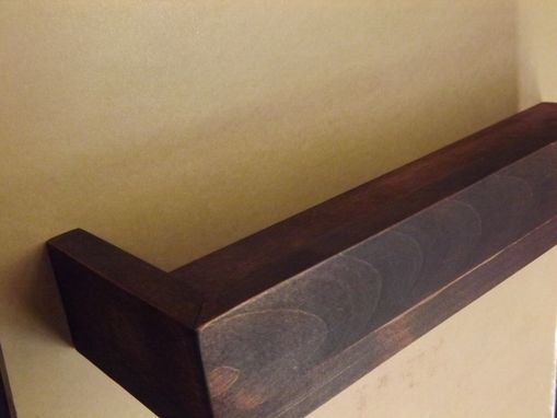 Custom Made Small Wooden Bathroom Shelf