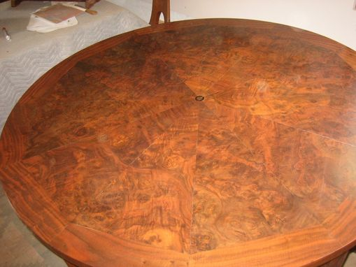 "Custom Made 54"" California Walnut Burl Dining Table"