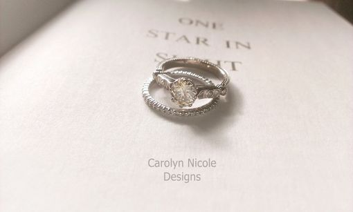 Custom Made Antique Diamond And Pearl Engagement Ring