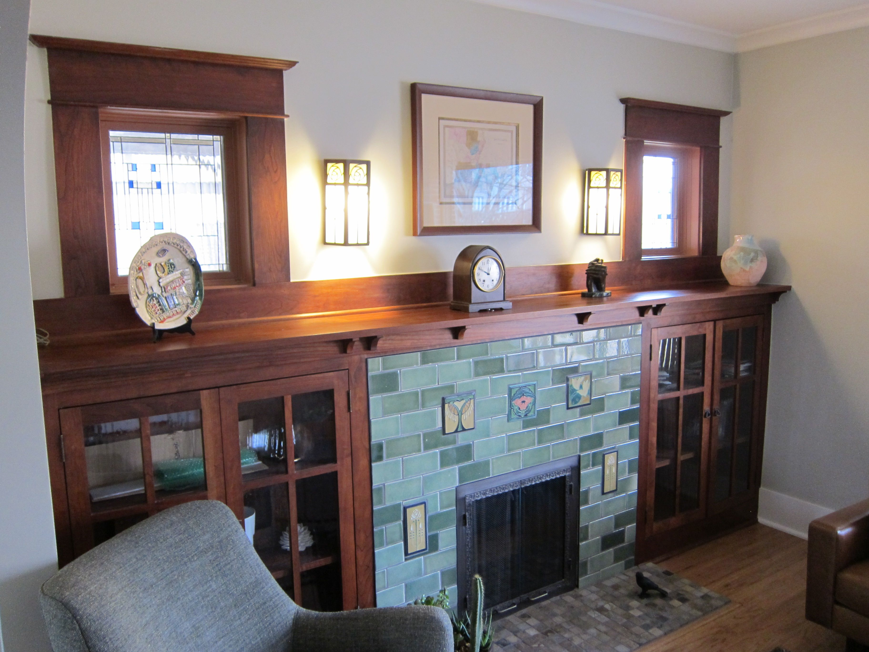 hand made custom fireplace surrounds in denver hardwood paint