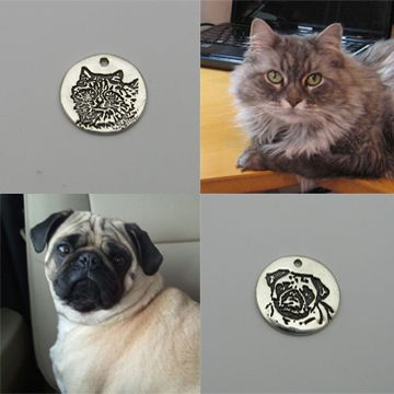 Custom Made Silver Charm Or Pendant With Your Pet's Portrait