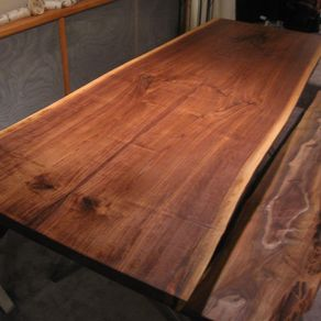 Walnut Live Edge Slab X Base Table by Raffaele Colone 541b0f939