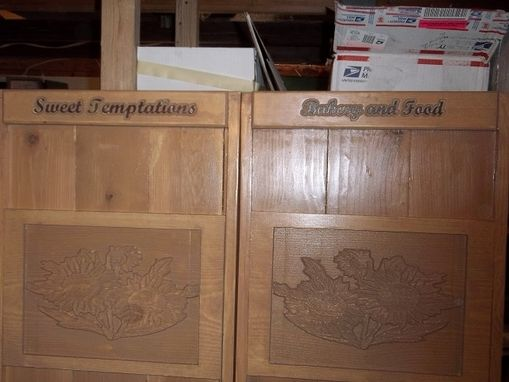 "Custom Made Custom 48"""" X 36"" Cafe Doors For Local Restaurant"