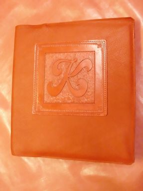 Custom Made Leather Covered Binder/Picture Album