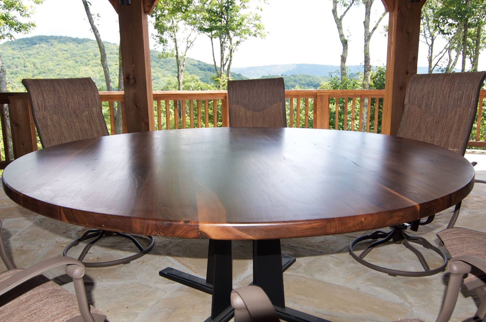 Custom Made Round Dining Table In Any Size Or Species Unique Confrence