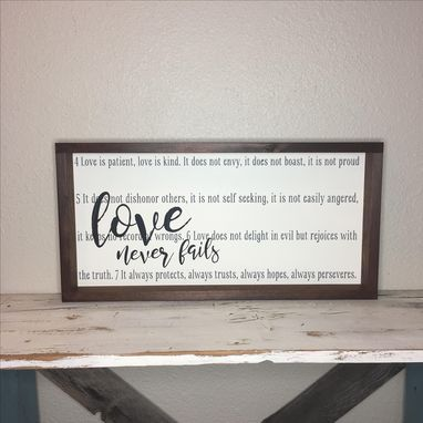 Custom Made 12x24 Custom, Framed Hand Painted Wood Sign, Made To Order
