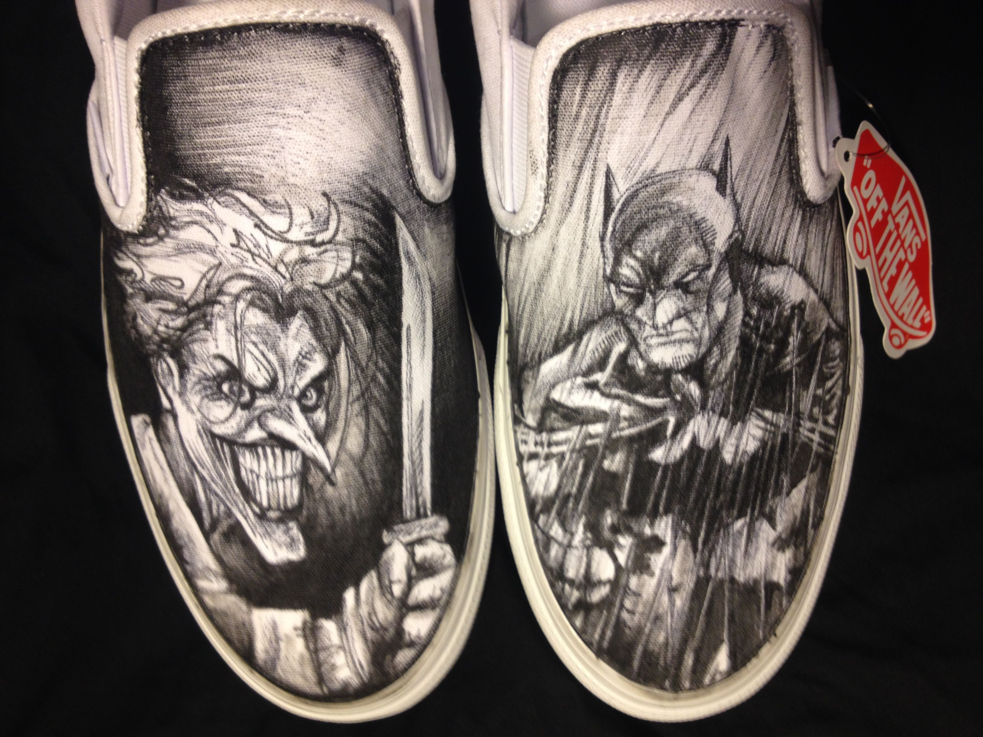 Joker ShoesMade Hand And Custom Handmade Drawn Buy Batman VpSMGqUz
