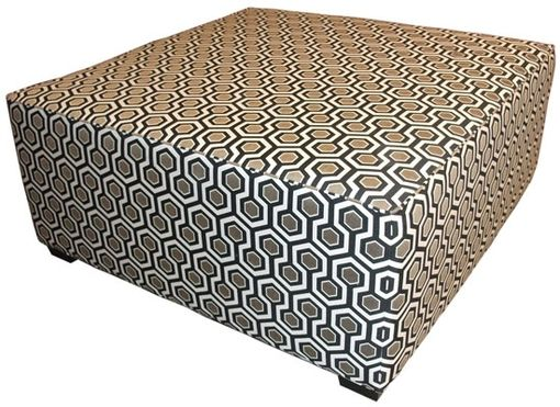 Custom Made Large Square Residential Ottoman