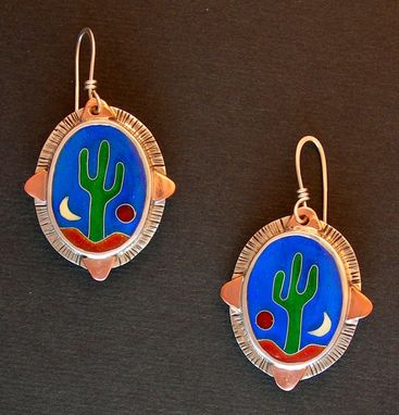Custom Made Saguaro Cactus Earrings