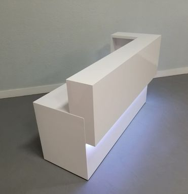 Custom Made San Francisco Reception Desk With Led