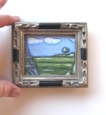 Custom Made Acrylic Ink Landscape Painting - Miniature Eiffel Tower