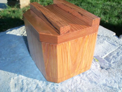 Custom Made Hexagonal Keepsake Box In Oak