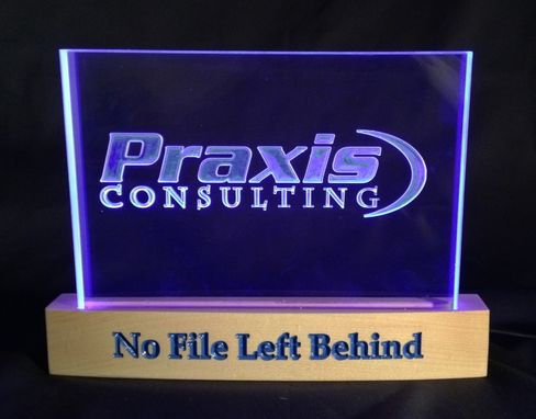 Custom Made Praxis Consulting Desktop L E D Sign