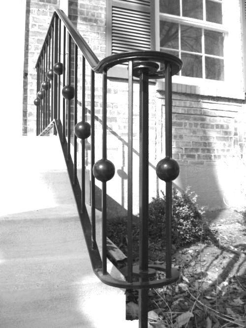 Custom Exterior Stair Railing by Bader Art Metal & Fabrication ...