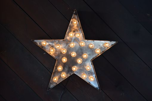 Custom Made Lighting Marquee Star Silver