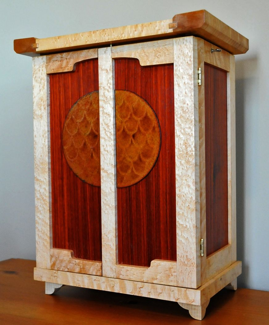 Hand Made Arts And Crafts Jewelry Box By Heller And Heller