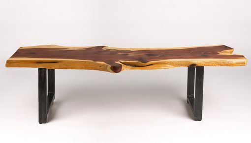 Custom Made Cedar Slab Coffee Table