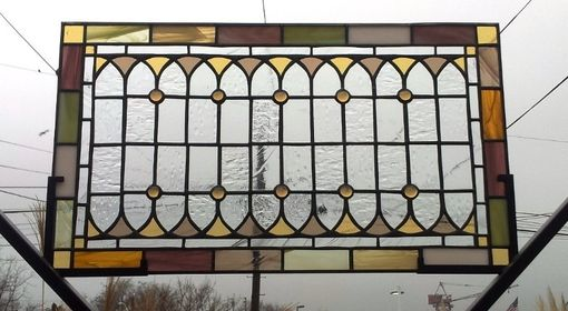 "Custom Made Stained Glass Windows -""Pale Tones"" (W-40)"