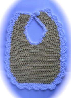Custom Made Heirloom Quality Crocheted Baby Bib