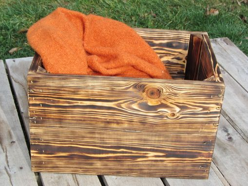 Custom Made Small Reclaimed Wood Crate Stackable