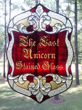 Custom Made Sandcarved Mouthblown Stained Glass Designs