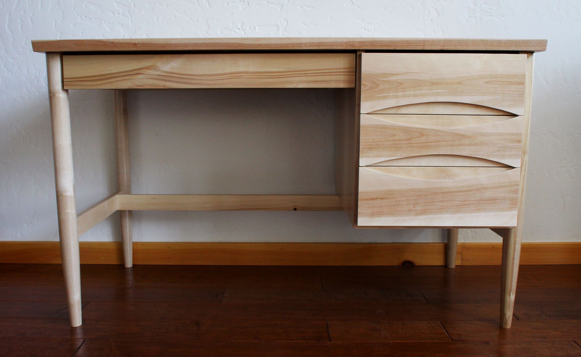 custom made the sdj mid century modern office desk by vpwdesigns