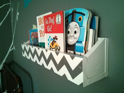 Custom Made 24 Inch Chevron Bookshelf