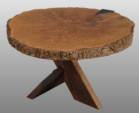 Custom Made Maple Burl Table