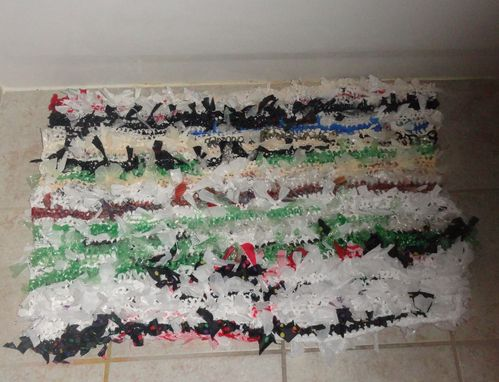 Custom Made Recycled Plastic Bag Bath Bathroom Mat