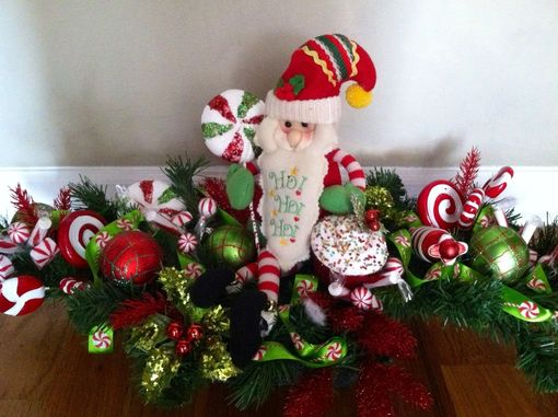 Custom Made Christmas Santa Centerpiece