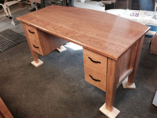 Custom Made Curved Cherry Desk