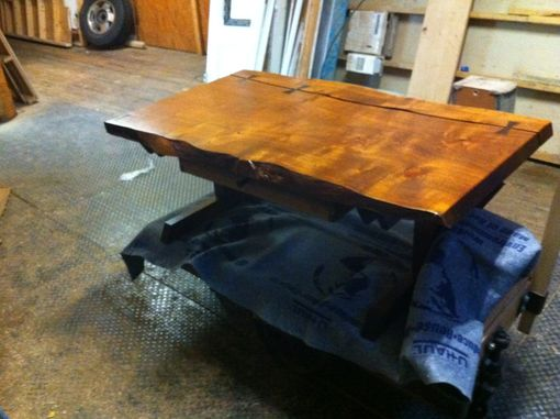 Custom Made Black Mesquite Slab Coffee Table